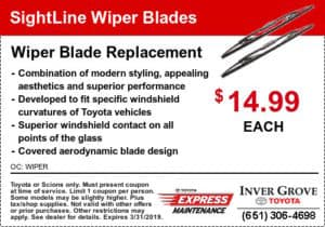 toyota coupon-toyota-sightline-wiper-blade