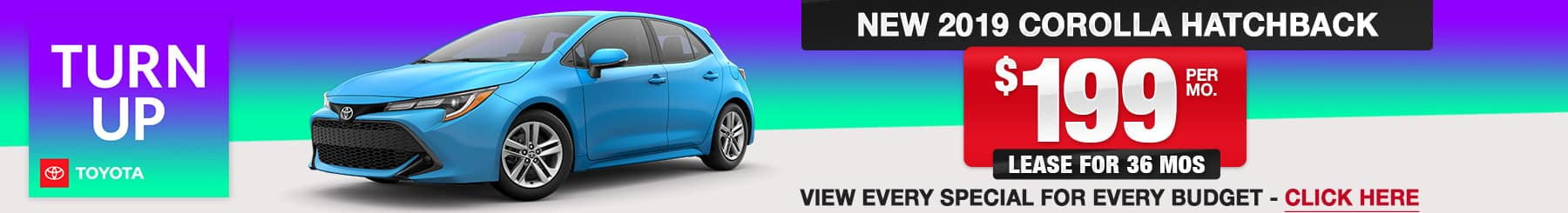 2019 Corolla Hatchback Lease or Finance Offers