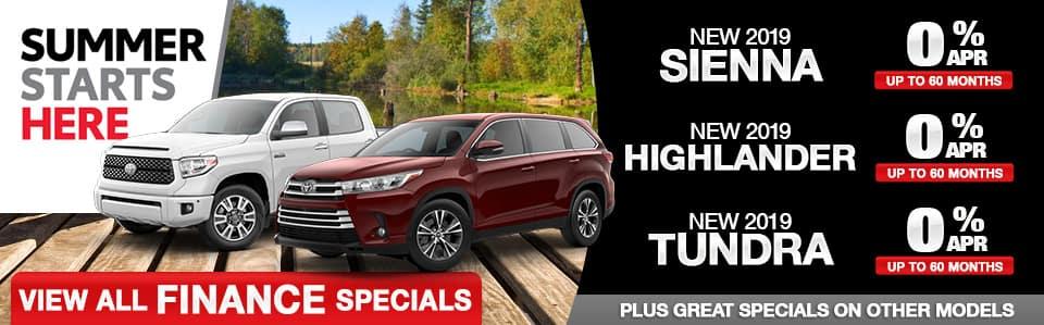 New Toyota 0% APR Specials