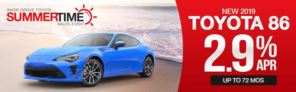 New 2019 Toyota 86 Finance Special