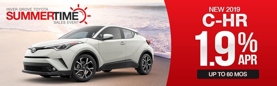 New 2019 Toyota C-HR Finance Special