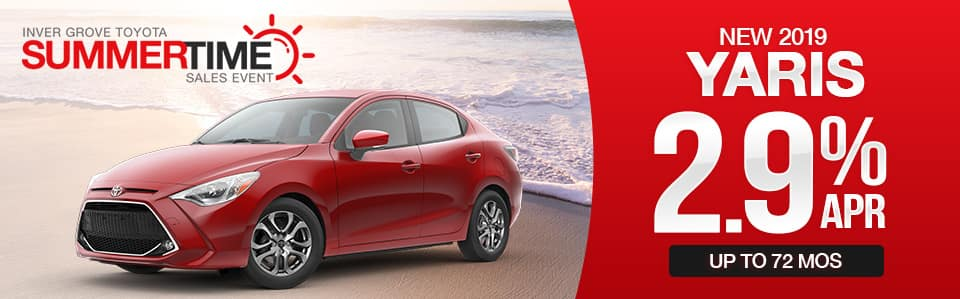 New 2019 Toyota Yaris Finance Special