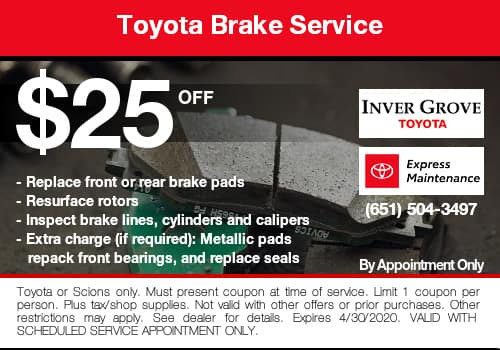Toyota Brake Coupon Special