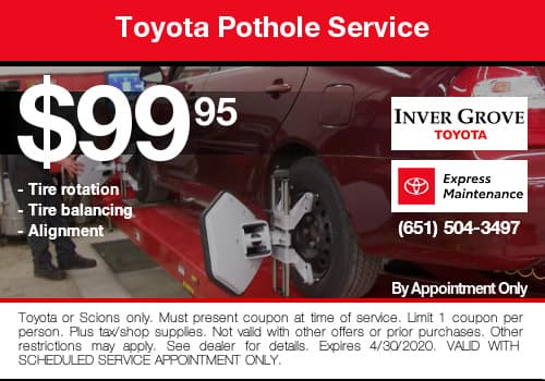 Toyota Pothole Coupon Special