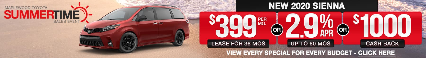 2019 Sienna Lease or Finance Offers