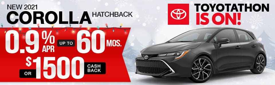 New 2021 Toyota Corolla Hatchback Finance Special