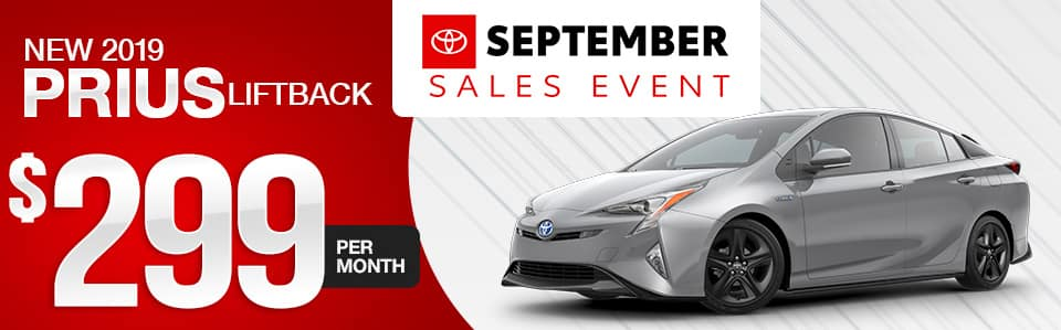 New 2019 Toyota Prius Lease Special