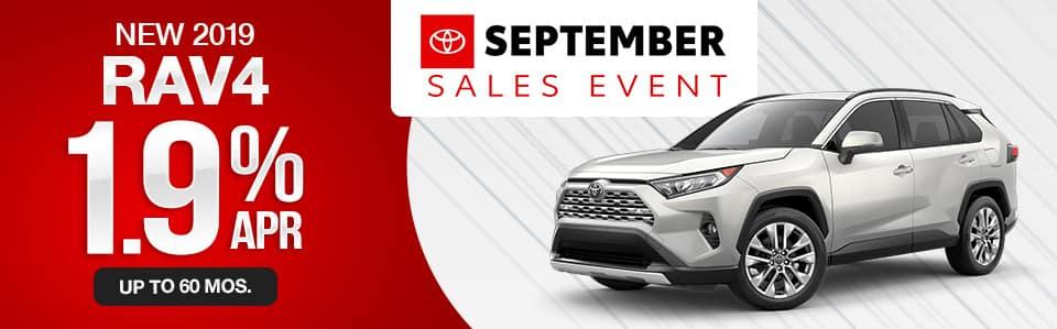 New 2019 Toyota RAV4 Finance Special