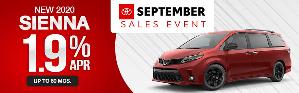 New 2020 Toyota Sienna Finance Special