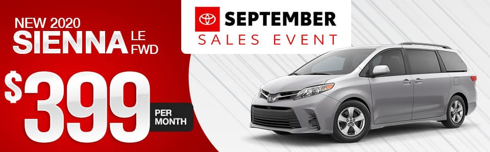 New 2020 Toyota Sienna Lease Special