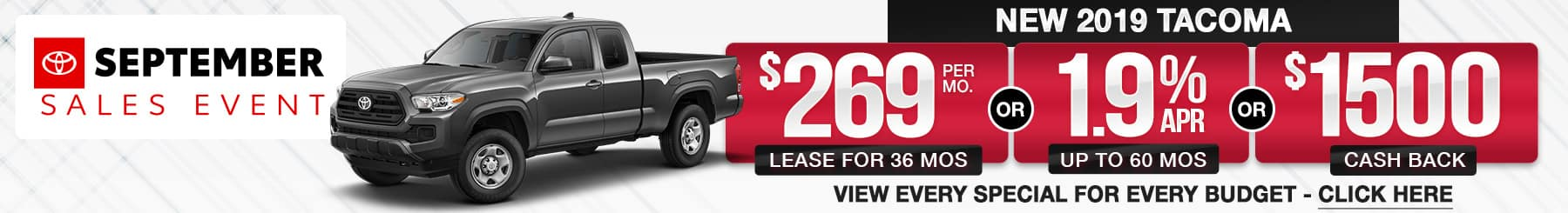 2019 Tacoma Lease or Finance Offers