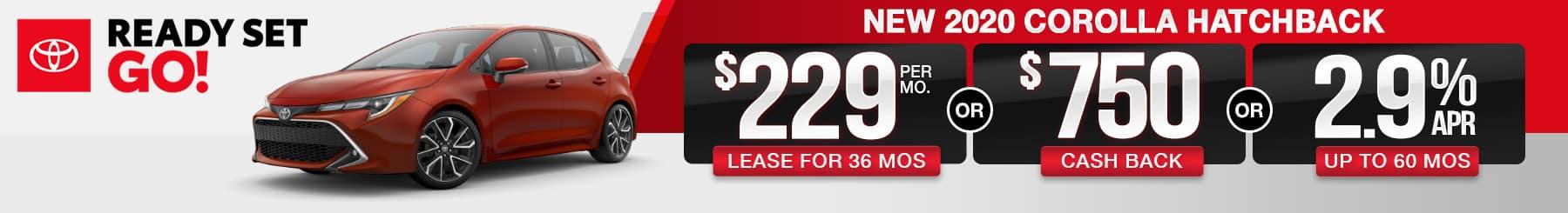 2020 Corolla Hatchback Lease or Finance Offers