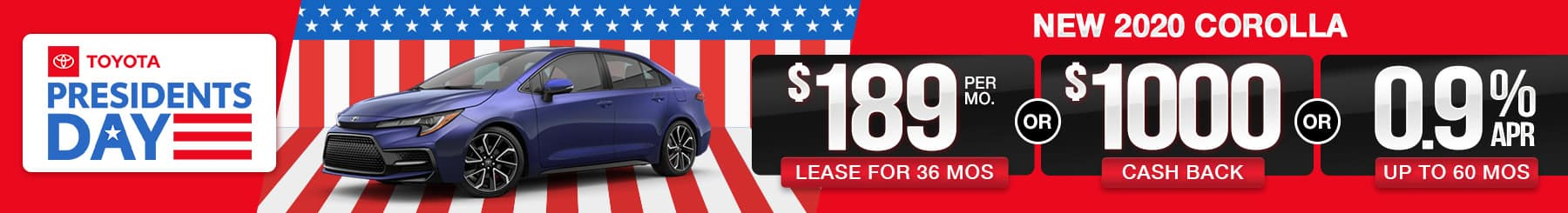 2020 Corolla Lease or Finance Offers