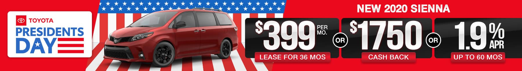 2020 Sienna Lease or Finance Offers