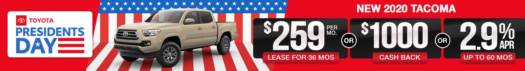2020 Tacoma Lease or Finance Offers