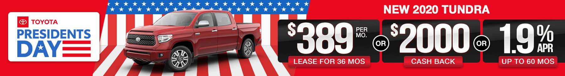 2020 Tundra Lease or Finance Offers
