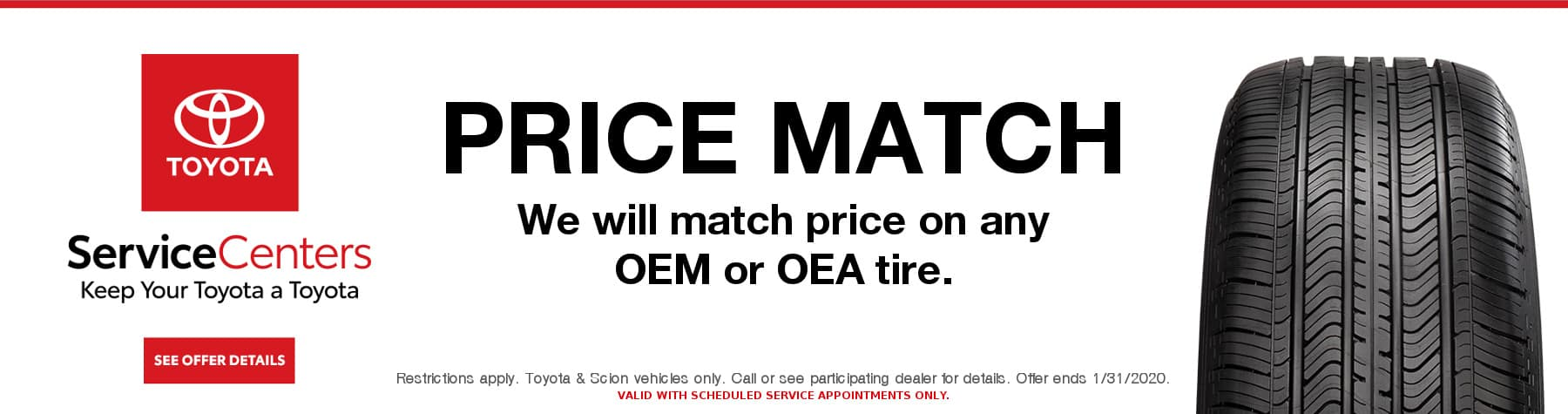 Toyota Service - Toyota Tire Coupon