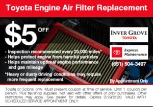 coupon-toyota-engine-air-filter-replacement