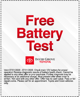 Free Battery Check Coupon Special