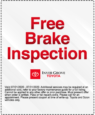 Free Brake Check Coupon Special
