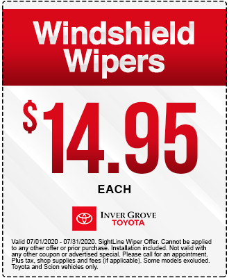 Toyota Wiper Blade Coupon Special