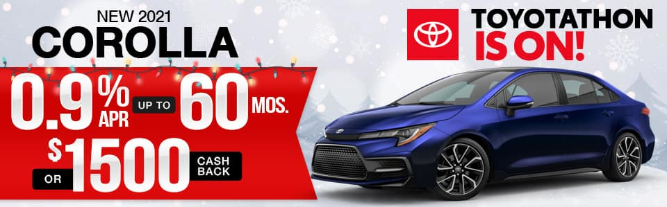 2021 Toyota Corolla Finance Special
