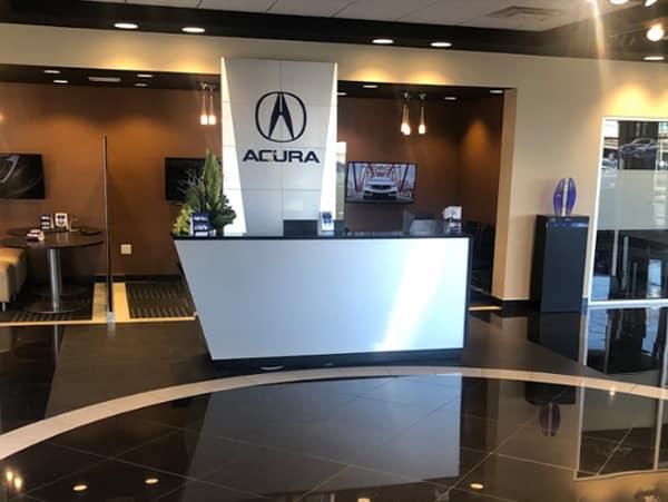 Island Acura lobby area
