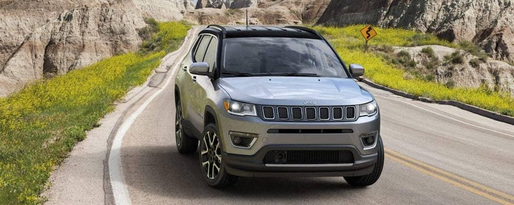 Silver 2020 Jeep Compass on Highway