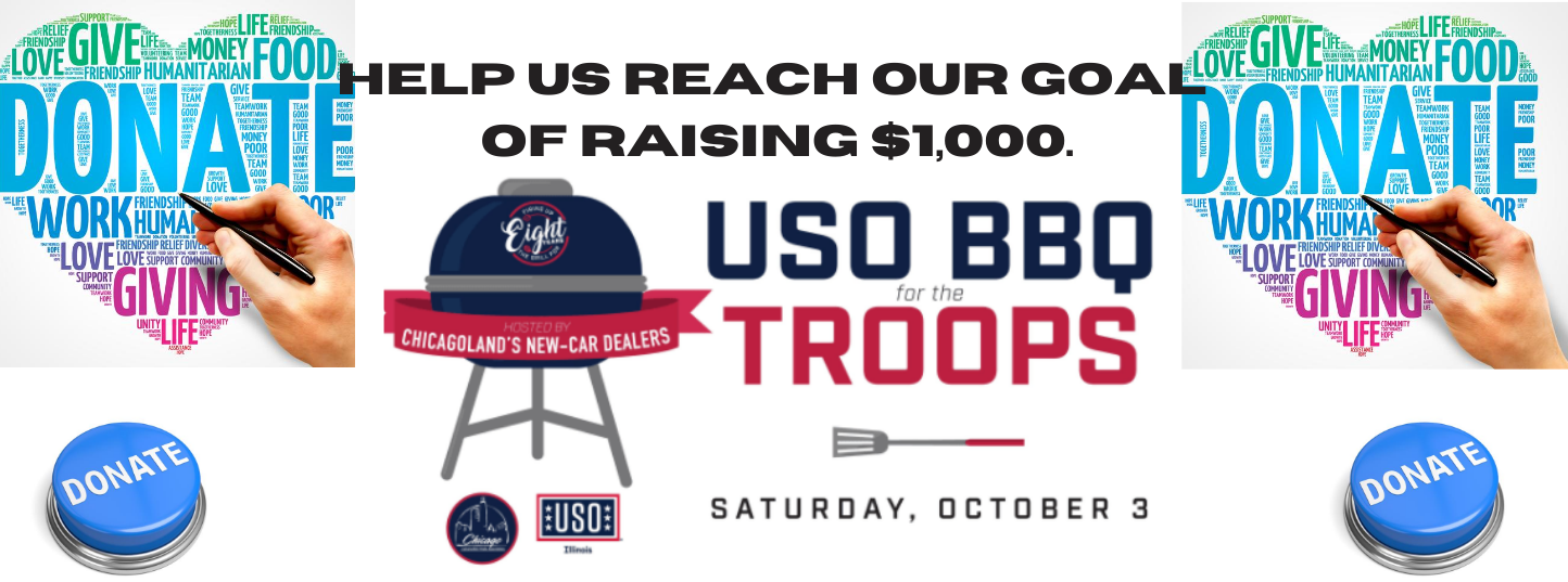 HELP US REACH OUR GOAL OF RAISING $1,000. USO BBQ for the Troops 2020
