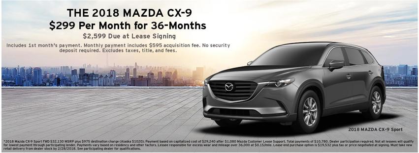 2018 Mazda CX-9 Lease