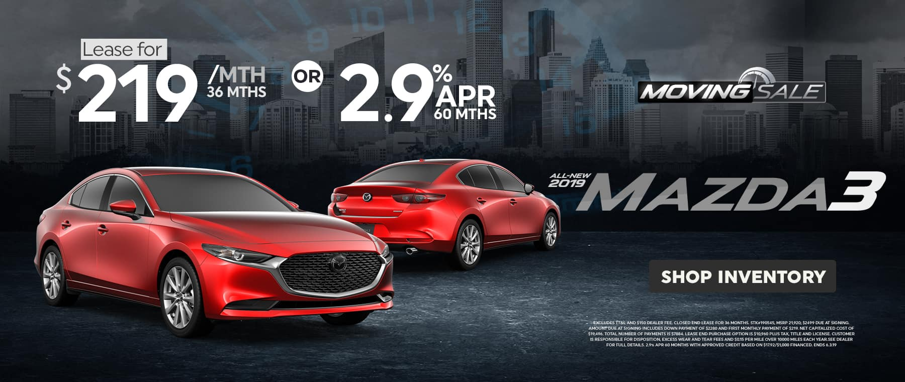 2019 Mazda3 May 2019 Offer