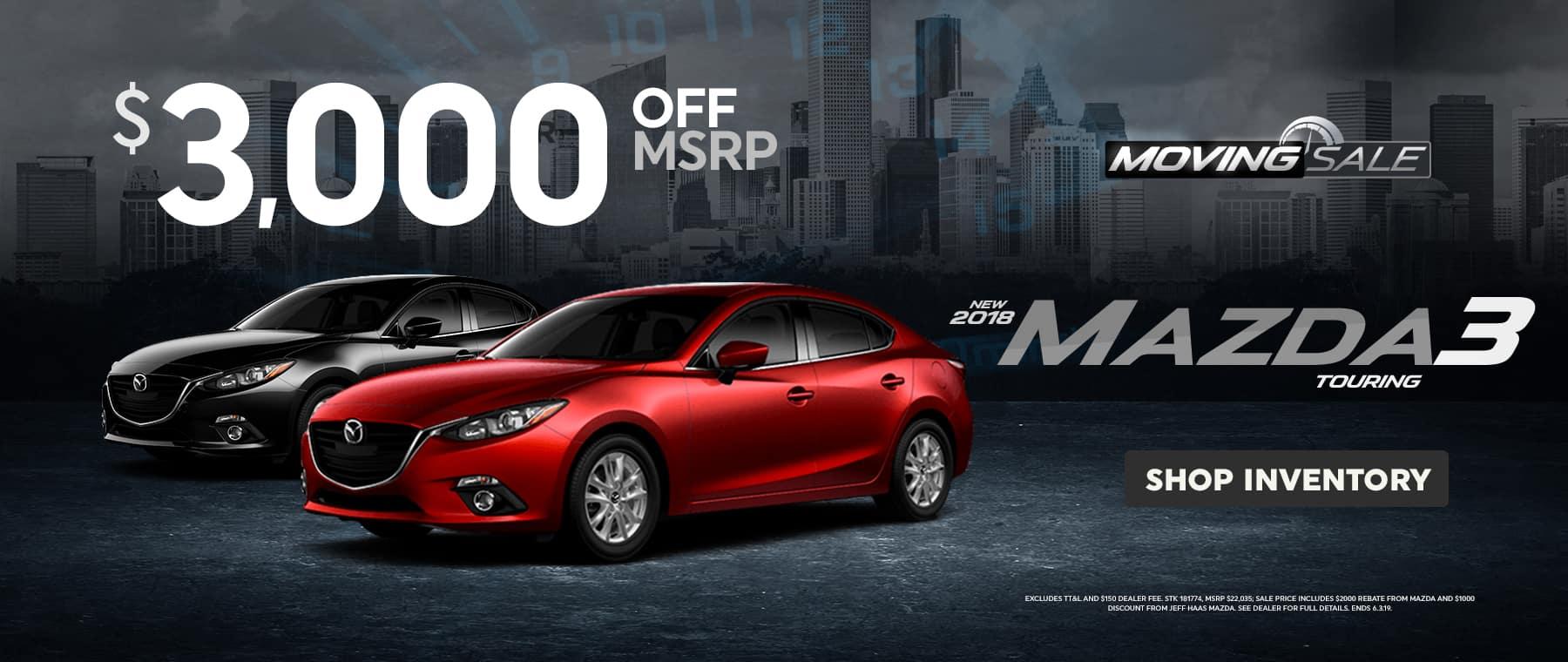 2018 Mazda3 Sale