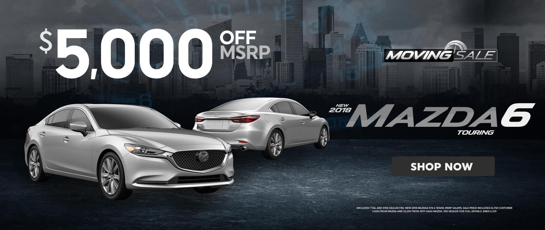 2018 Mazda6 Sale