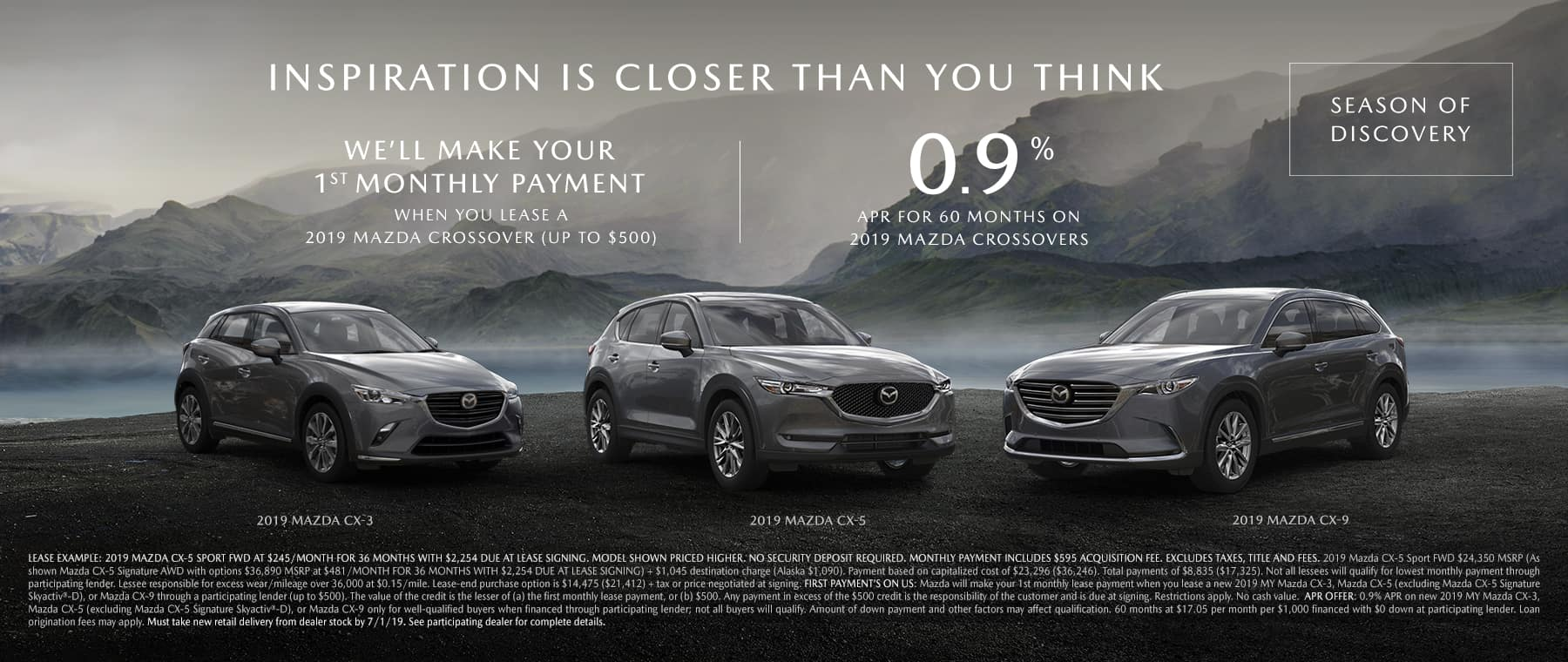 Save on Mazda SUVs During the Season of Discovery Sales Event at Jeff Haas Mazda
