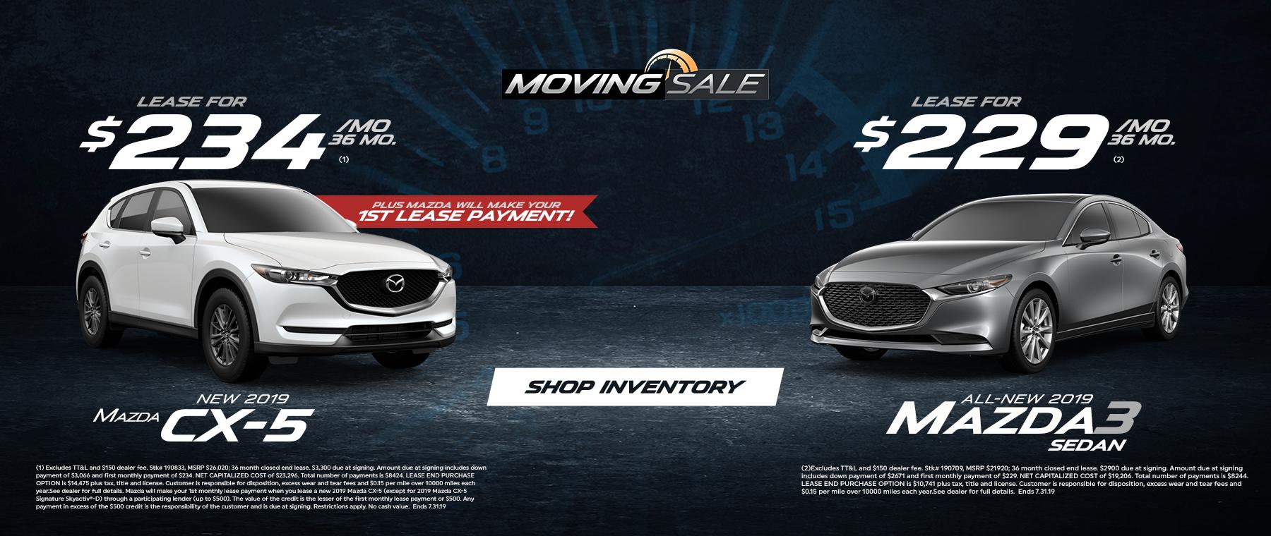 CX-5 and Mazda3 Sale at Jeff Haas Mazda