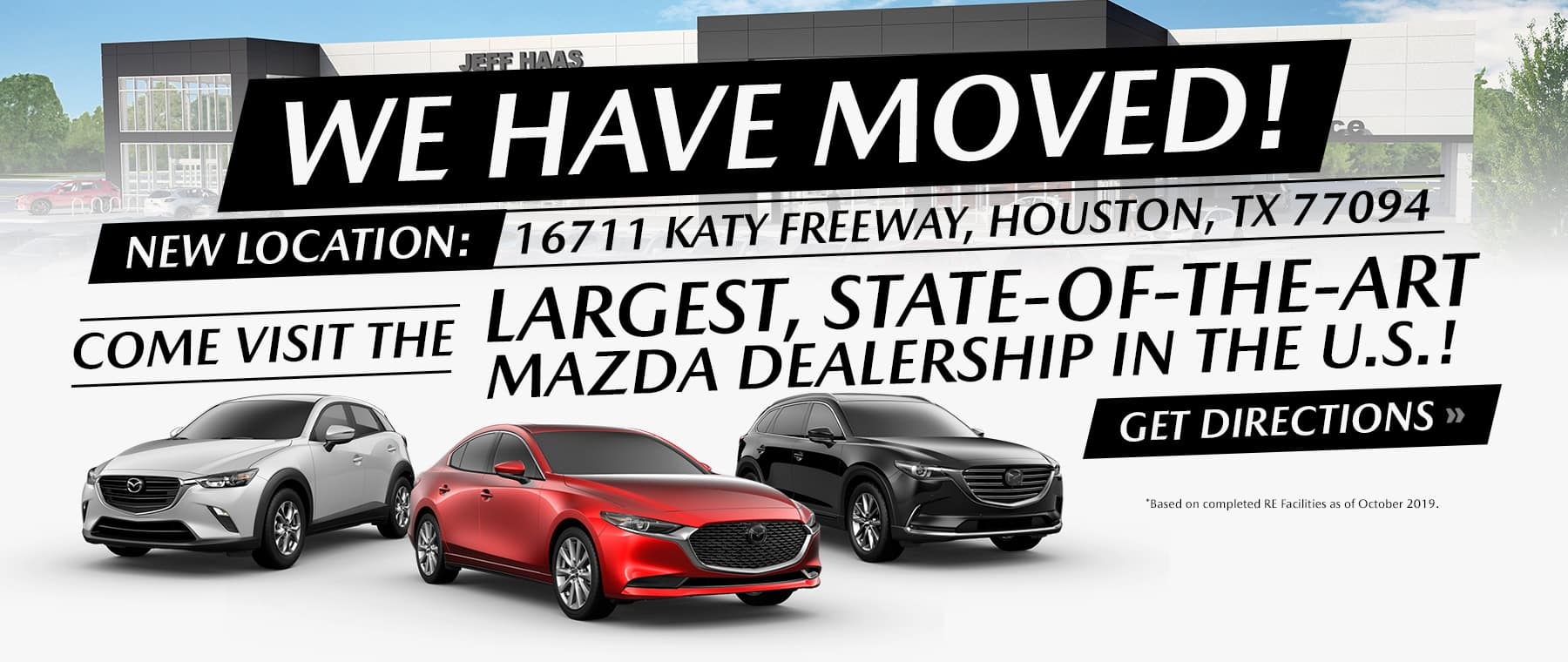 We've Moved to 16711 Katy Freeway Houston TX