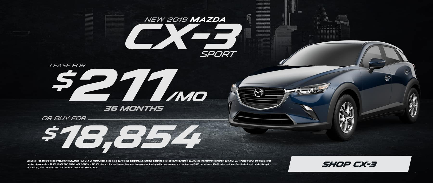 2019 Mazda CX-3 Sale in Eden, NC