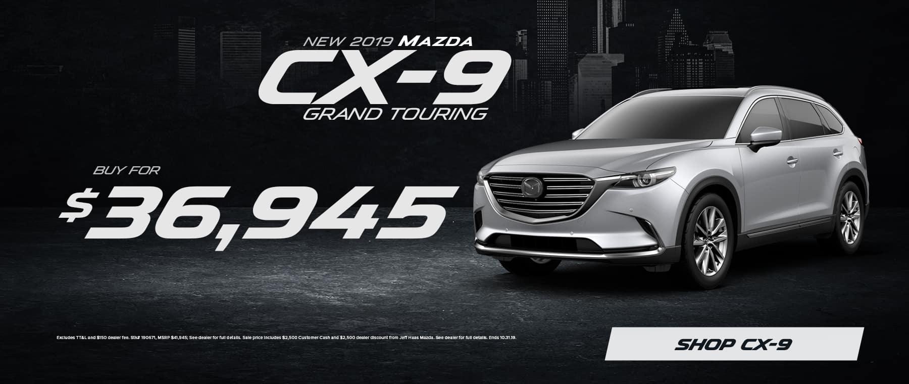 2019 Mazda CX-9 Sale in Houston, TX