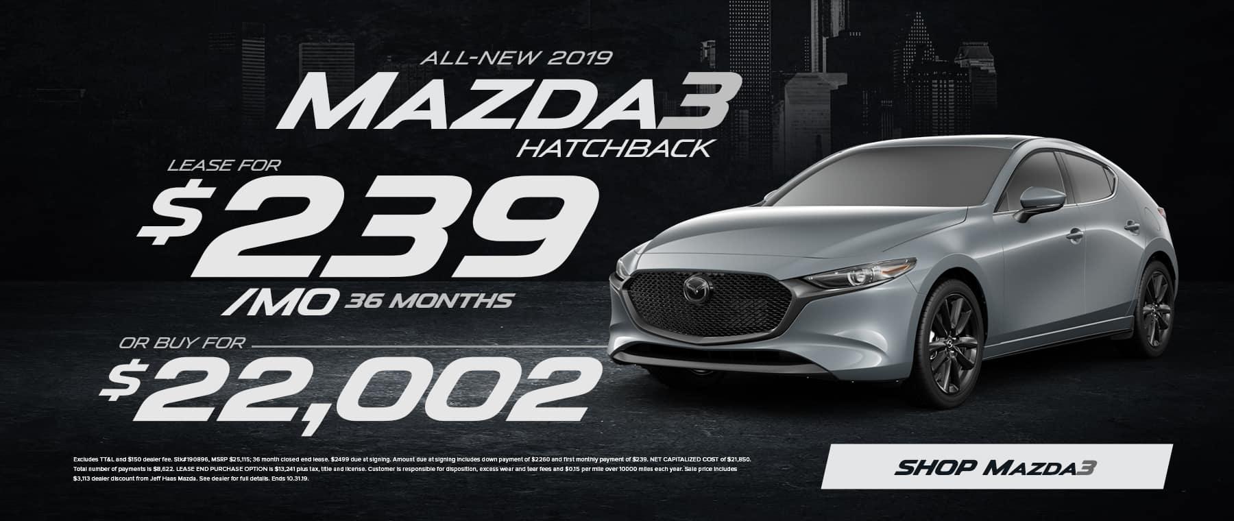 2019 Mazda3 Hatchback Sale in Houston, TX