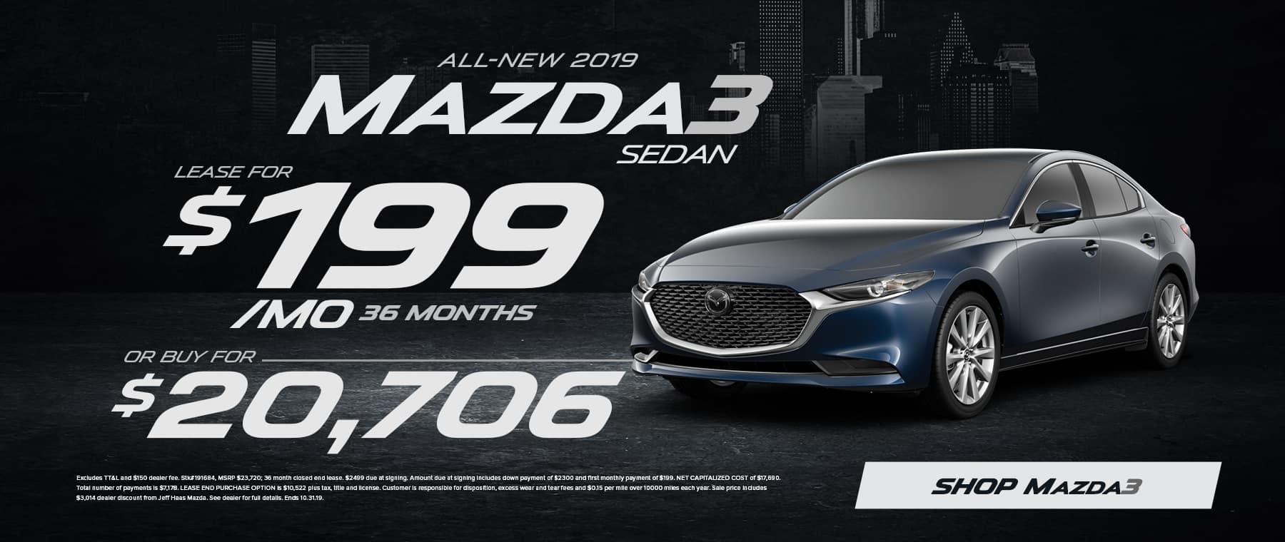 2019 Mazda3 Sedan Sale in Houston, TX