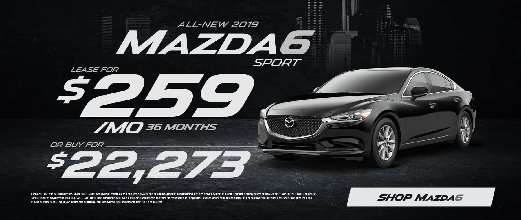 2019 Mazda6 Sale in Houston, TX