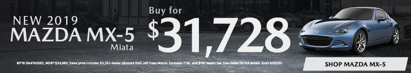 New 2019 MAZDA MX-5 Miata Buy for $31,728