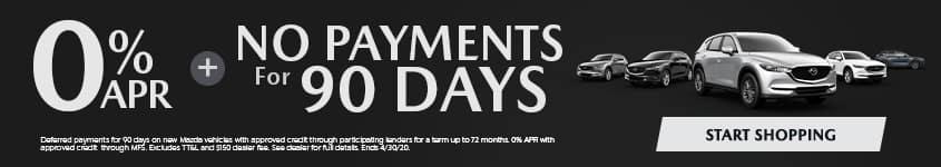 0% APR + NO PAYMENTS FOR 90 DAYS!