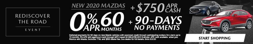 0% APR for 60 MONTHS + $750 APR CASH + NO PAYMENTS FOR 90 DAYS