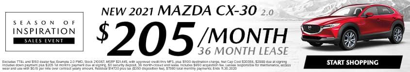 Season of Inspiraiton Mazda CX30