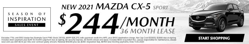 Season of Inspiration Mazda CX5 Lease