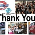 Customer Appreciation with a cause - Johnson Motors of Menomonie