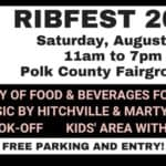 Rib fest, sponsored by johnson motors of st croix falls