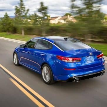 2019 Kia Optima driving along the road