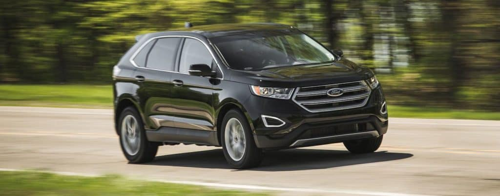 Black  Ford Edge Showing Performance On The Road